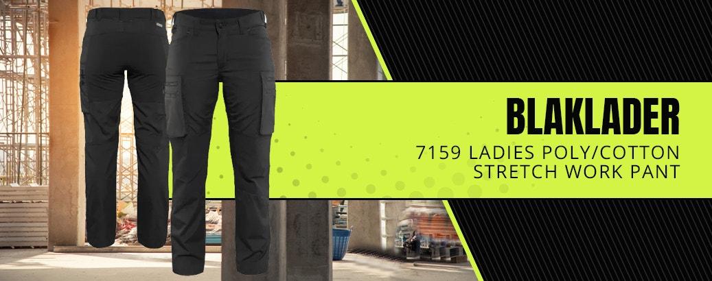 Blaklader 7159 Ladies Poly/Cotton Stretch Work Pant