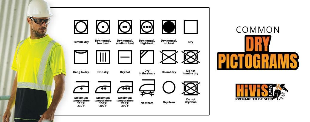 Common dry pictograms
