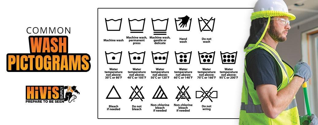Common wash pictograms