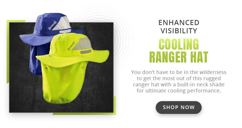 Enhanced Visibility Cooling Ranger Hat w/ Roll Up Neck Shade