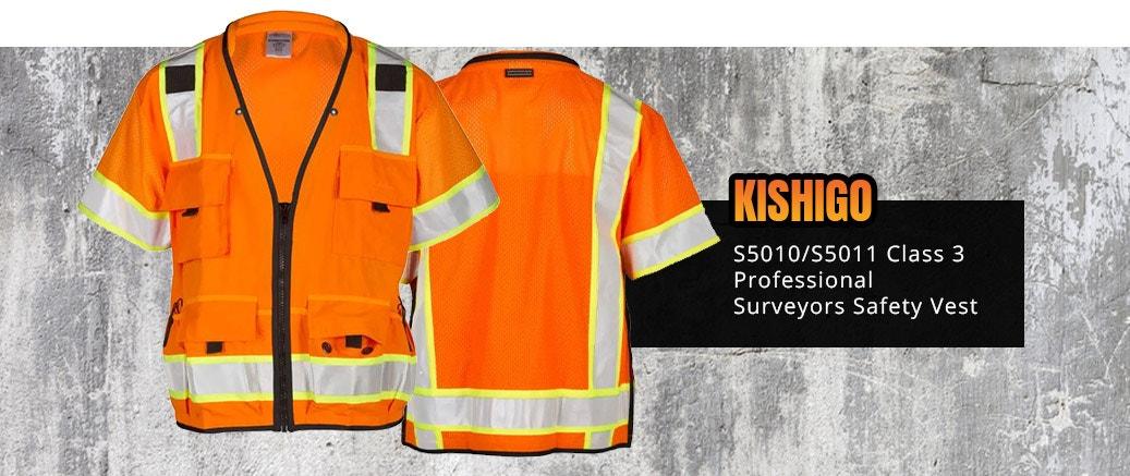 Kishigo S5010/S5011 Class 3 Professional Surveyors Safety Vest