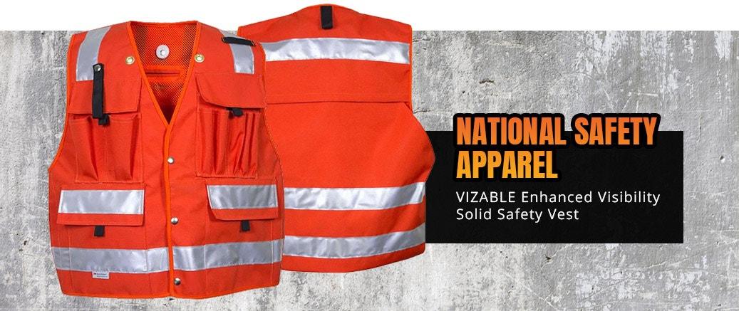 National Safety Apparel VIZABLE Enhanced Visibility Solid Safety Vest