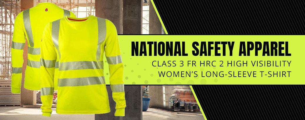National Safety Apparel Class 3 FR HRC 2 High Visibility Women's Long-Sleeve T-Shirt