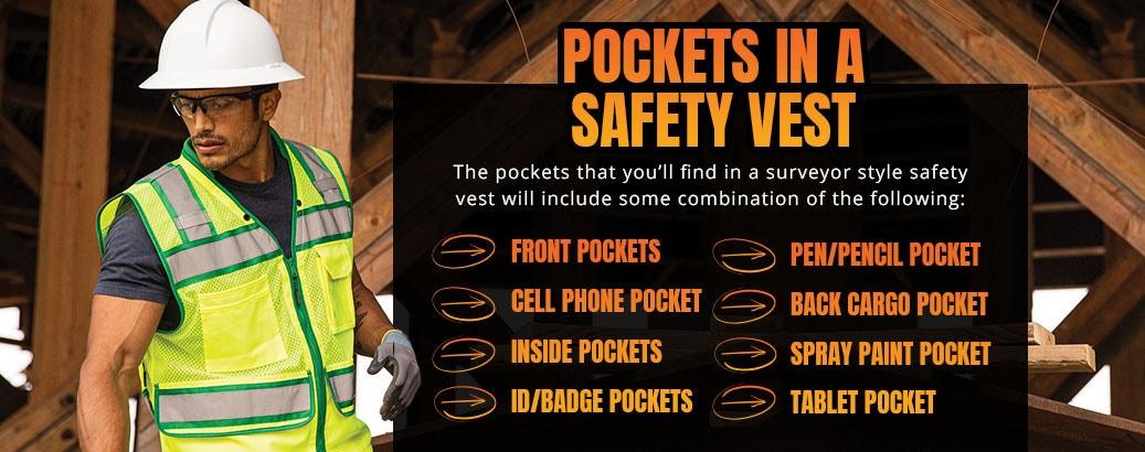 Pockets in a Safety Vest