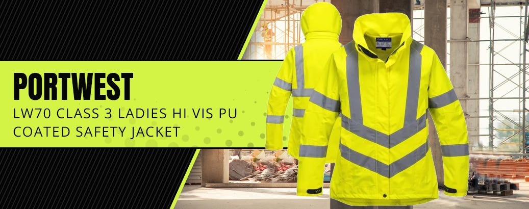 Portwest LW70 Class 3 Ladies Hi Vis Breathable PU Coated Safety Jacket