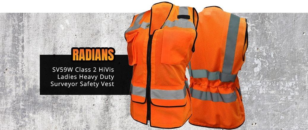 Radians SV59W Class 2 HiVis Ladies Heavy Duty Surveyor Safety Vest