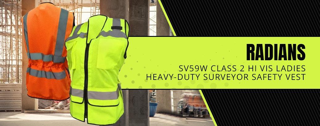 Radians SV59W Class 2 Hi Vis Ladies Heavy-Duty Surveyor Safety Vest