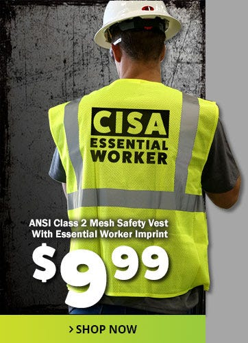 CISA Essential Worker Safety Vest