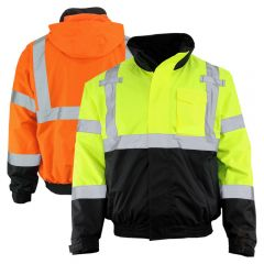 GSS Safety 8003/8004 Class 3 HiVis 3-IN-1 Safety Bomber Jacket