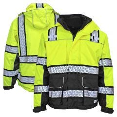 GSS Safety 8505 Onyx Series Class 3 HiVis Thermal 3-In-1 Ripstop Utility Safety Parka
