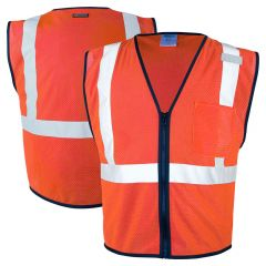 ML Kishigo 1719 Economy Series Class 2 HiVis Red Zipper-Front Mesh Safety Vest