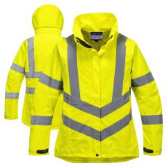Portwest LW70 Class 3 Ladies HiVis Breathable PU Coated Safety Jacket