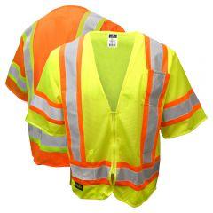 Radians SV22-3 Economy Class 3 Hi Vis Contrasting Zippered Mesh Safety Vest