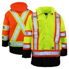 Work King S176 Class 3 HiVis Thermal Safety Parka