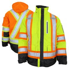 Work King S187 Class 3 HiVis 300D Ripstop 4-In-1 Jacket
