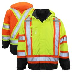 Work King S426 Class 3 Contrasting Thermal 5-in-1 Safety Jacket