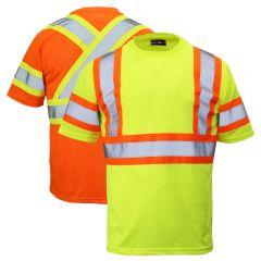 Work King ST09 Class 2 Polyester Micro Mesh Contrast Short Sleeve T-Shirt