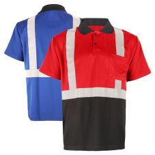 GSS Safety 5023/5024 Enhanced Visibility Black Bottom Short Sleeve Polo