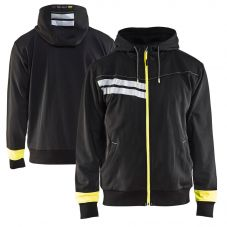 Blaklader 4958 Enhanced Visibility Full Zip Hooded Sweatshirt
