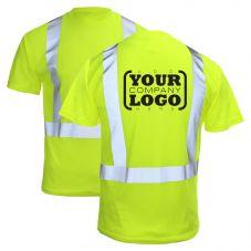 Hi Vis Class 2 Short Sleeve Pocket T-Shirt with 1-Color Back Imprint