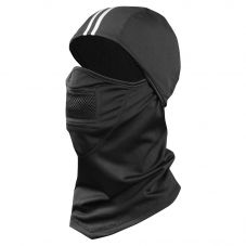 Enhanced Visibility Black 3-in-1 UPF 50 Hinged Fleece Balaclava Black