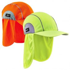 Ergodyne Chill-Its 6650 High/Performance Hats with Neck Shades | Orange