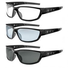 Ergodyne Skullerz Kvasir Safety Glasses | Black Frame