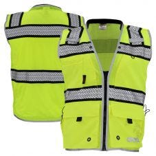 GSS Safety 1511 Onyx Series Class 2 HiVis Ripstop Surveyors Vest