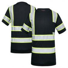 GSS Safety 5011 Enhanced Visibility Black Contrast Birdseye Short Sleeve Safety T-Shirt