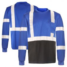 GSS Safety 5133 Enhanced Visibility Black Bottom Long Sleeve Safety T-shirt