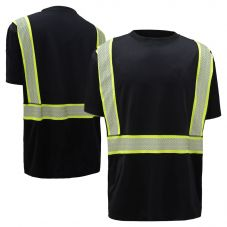 GSS Safety 5703 Onyx Series Enhanced Visibility Snag Proof Safety T-Shirt