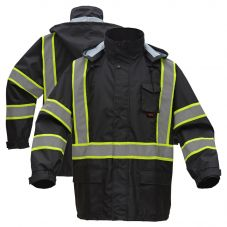 GSS Safety 6007 Contrast Series Enhanced Visibility Rain Coat