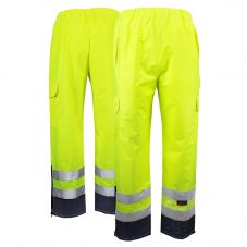 GSS Safety 6803 Class E HiVis Black Bottom Safety Rain Pants