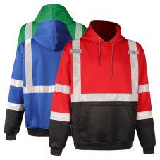 GSS Safety 7013/7014/7016 Enhanced Visibility Black Bottom Pullover Sweatshirt