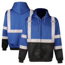 GSS Safety 7023 Enhanced Visibility Black Bottom Full Zip Sweatshirt