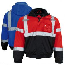 GSS Safety 8013/8014 Enhanced Visibility Thermal Safety Bomber Jacket