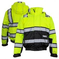 GSS Safety 8511 Onyx Series Class 3 HiVis Thermal 3-In-1 Ripstop Utility Safety Bomber Jacket