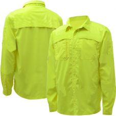 GSS Safety HiVis Performance Utility Shirt | Color: Lime