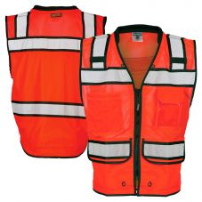 ML Kishigo S5704 Class 2 HiVis Red High Performance Surveyors Safety Vest