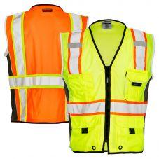ML Kishigo 1513/1514 Black Series Class 2 Heavy Duty Safety Vest