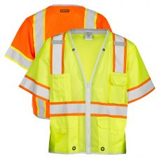 ML Kishigo 1550/1551 Brilliant Series Class 3 Heavy Duty Safety Vest