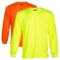 ML Kishigo 9122 High Visibility Microfiber Long Sleeve Shirts | Lime Front
