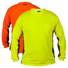 ML Kishigo 9202/9203 Premium Black Series Long Sleeve Hivis T-shirt