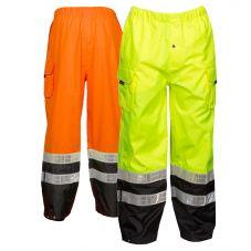 Kishigo RWP106 Black Series ANSI Class E Hi Vis Rain Pants
