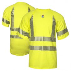 National Safety Apparel BSTJTRC3 Class 3 FR Control 2.0 HRC 1 Short Sleeve Segmented Safety T-Shirt