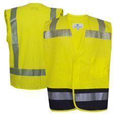 National Safety Apparel V00HAH2V Class 2 FR Hybrid Mesh Vest