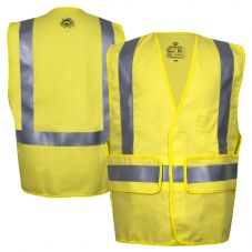 National Safety Apparel VIZABLE FR Class 2 HRC 2 Ultra-Soft Adjustable Safety Vest