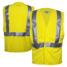 National Safety Apparel Vizable VNT99703 Class 2 FR HRC 1 HiVis Contractor Safety Road Vest