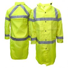 Neese 7002AC Class 3 Self-Extinguishing HiVis PU Coated Long Safety Rain Jacket