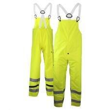 Neese 7002BTF Class E Self-Extinguishing HiVis PU Coated Safety Rain Bib